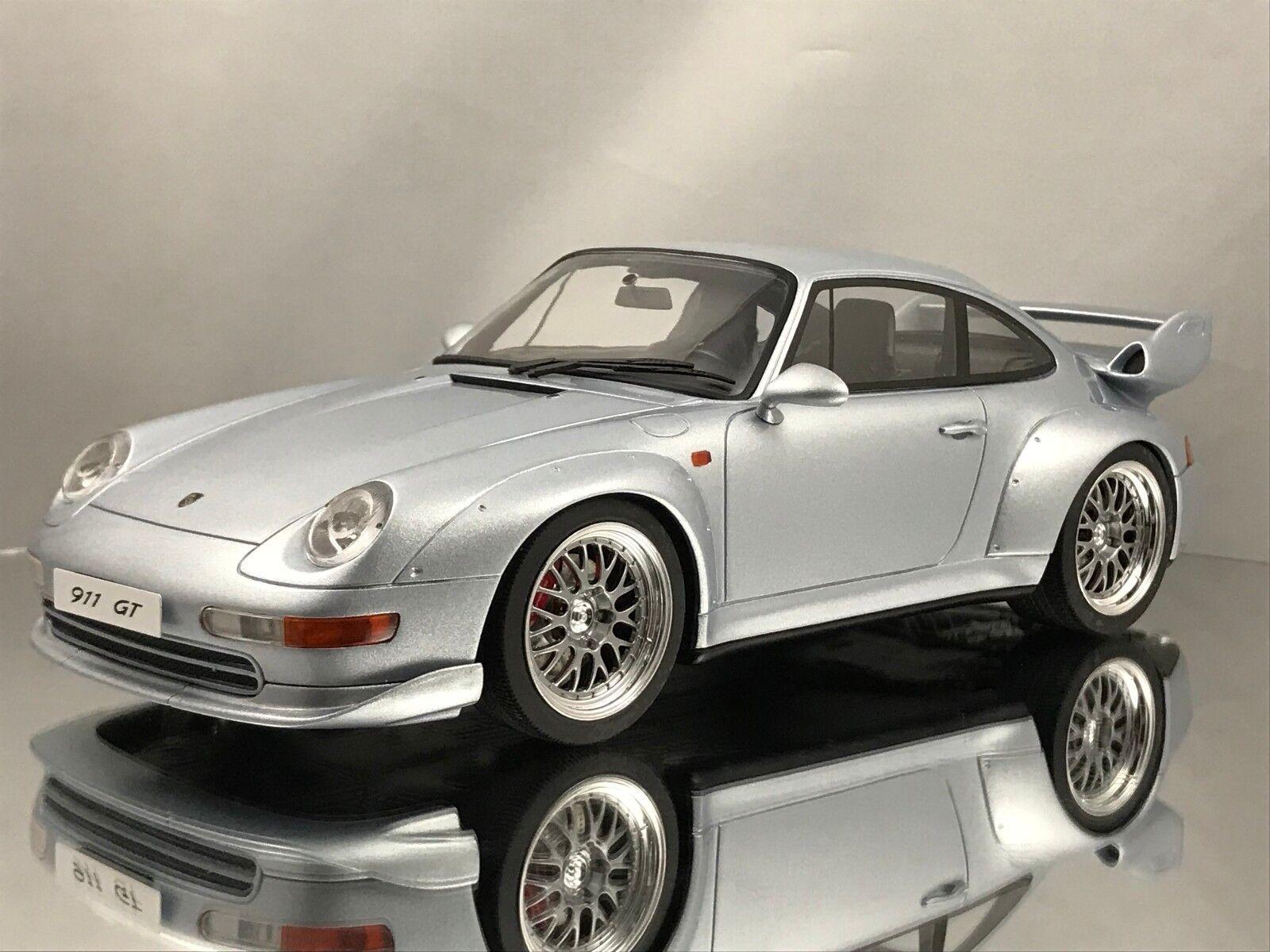 GT Spirit Porsche 911 (993) GT2 3.6 Twin Turbo Argent Résine Voiture Modèle 1 18