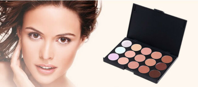 GRAU  New Professional Salon Party Makeup 15 Colors Concealer Palette Face Cream