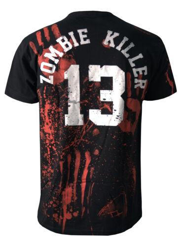 ZOMBIE KILLER 13 BLACK DEATH  Men/'s T-Shirt Darkside S 3XL  Zombie Horror