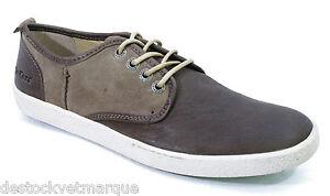 KICKERS-KOOLMAX-chaussures-baskets-cuir-homme-nubuck-gris-marron-beige