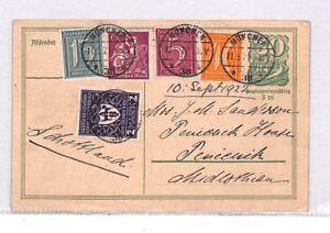 Respectueux Bn213 1922 Allemagne Munchen Entiers Postaux Carte Postale Pts Moins Cher