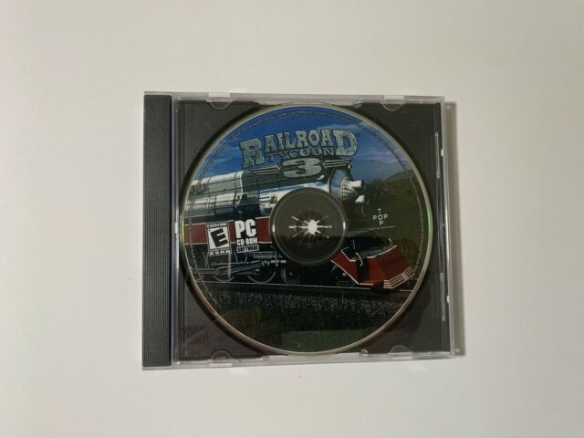 Railroad Tycoon 3 Pc Cd-Rom 2004 With Case Free Shipping!