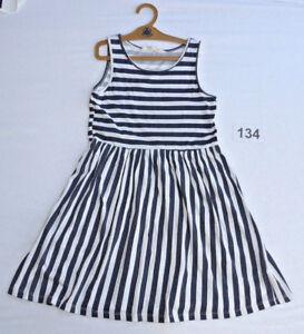 süßes KLEID ♥ Marine - Streifen Trägerkleid - H&M ...