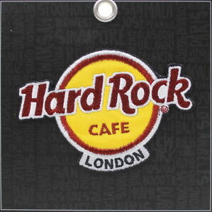 Hard-Rock-Cafe-LONDON-2018-Classic-HRC-Logo-PATCH-on-BLACK-Card-Iron-Sew-on-NEW