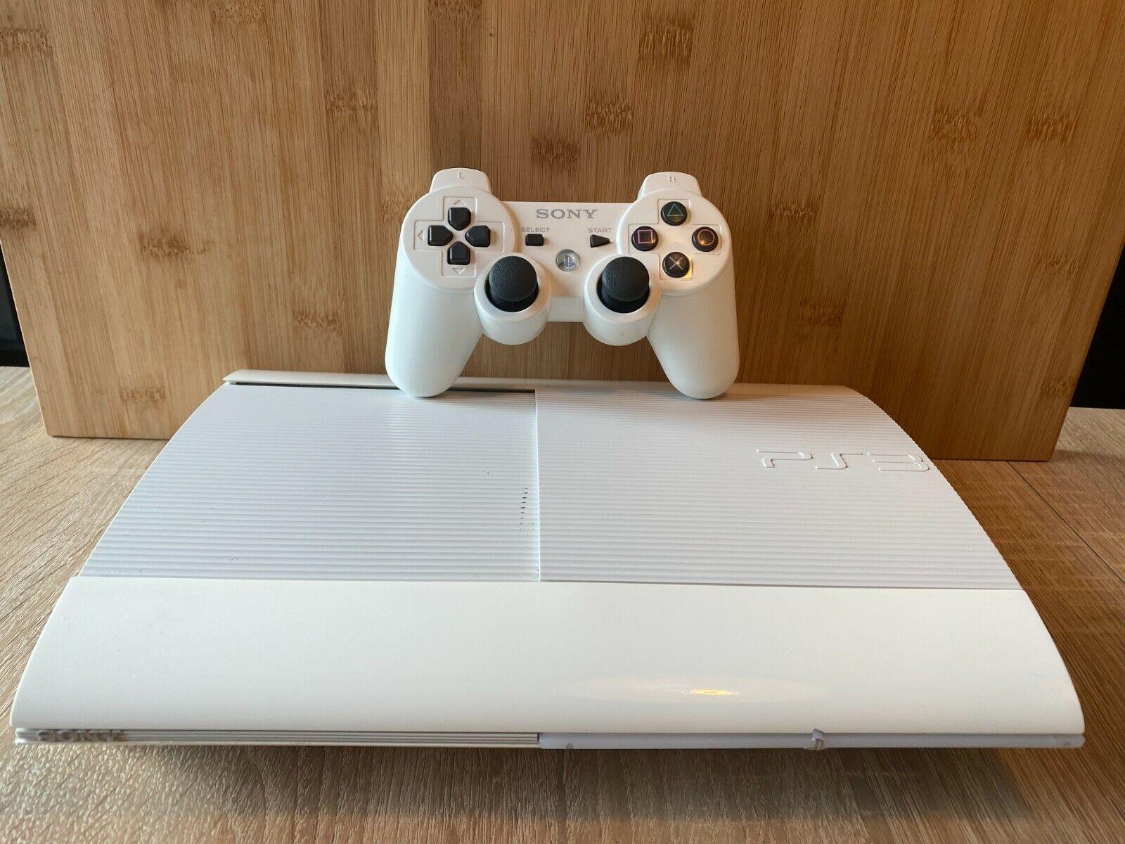 Sony Playstation 3 Super Slim 500 Gb Classic White Spielekonsole Pal Gunstig Kaufen Ebay
