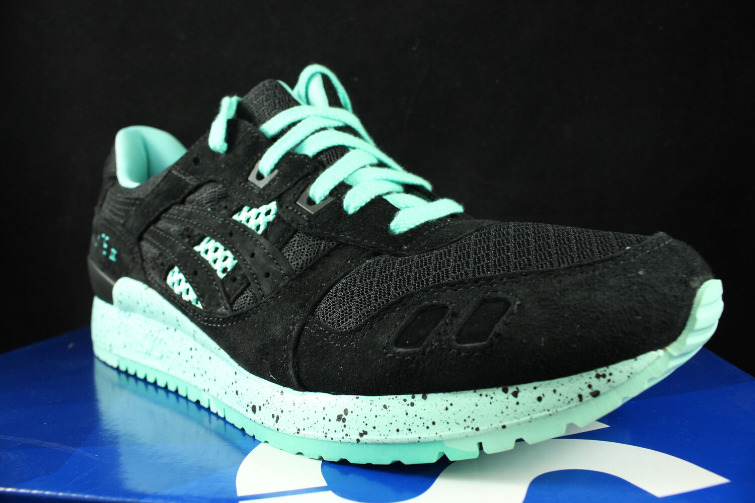 ASICS GEL LYTE III 3 H6Z0L BRIGHT PACK BLACK MINT H6Z0L 3 9090 SZ 10 0c1f40