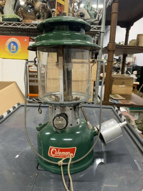 Vintage 1966 Coleman 220F Dual Mantle Camp Lantern NOS Sunshine Of The Night