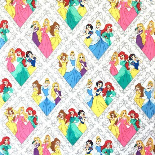 Sleeping Beauty Snow White Cinderella Disney Princesses Fabric 100/% Cotton