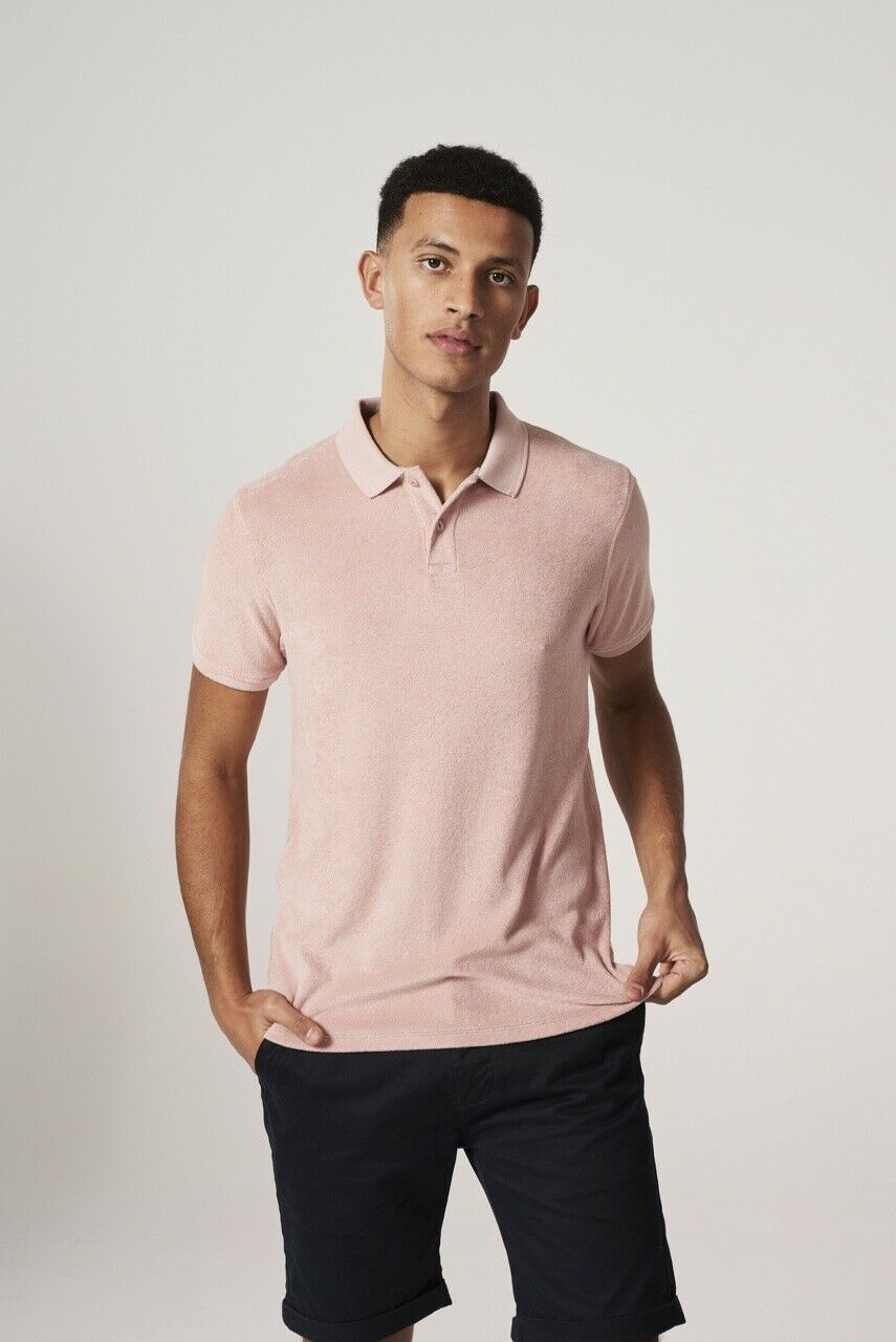 Dstrezzed Bredherhood of the Modern Gent Polo Light Towelling pink New Size S