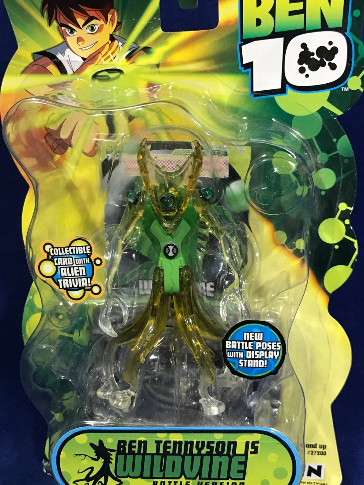 NEW - WILDVINE - Ben 10 - 4  Action Figure - 2008 BATTLE VERSION Bandai  27423