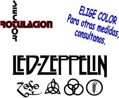 ref1560 Led Zeppelin Heavy Metal ROCK BAND PEGATINA VINILO STICKER ADHESIVO
