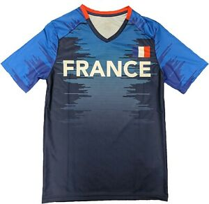c645adb6cb1 Image is loading Outerstuff-Soccer-France-Youth-Federation-Blue-Jersey -Short-