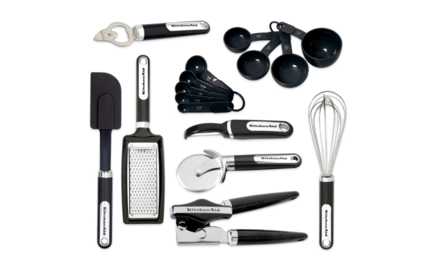 New KitchenAid Black 16-Piece Cooking Utensil Gadget Set Tools