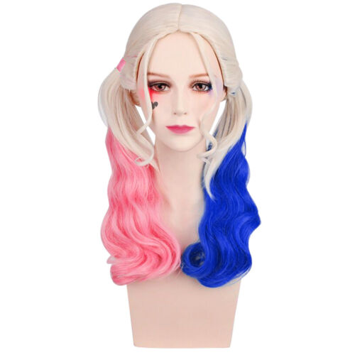 Harley Quinn Cosplay Perruque Wig Femme Suicide Squad Crazy Toys Gradient BT