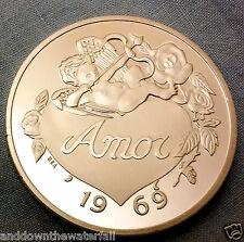 Amor Corazón Plata Moneda todo lo que necesitas es amor Alguien Especial Día De San Valentín Regalo