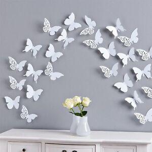 Schmetterlinge-3D-Wandtattoo-Wanddeko-Wanddekoration-Wandtattoos-Wand-Deko-3-D