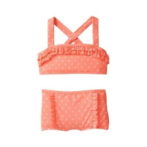 ae3916c296 Details about NWT Janie and Jack Girls Janie s Hideaway Glow Dot Neon  Orange 2 pc Swimsuit 4