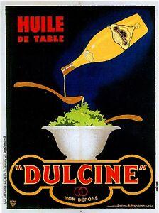1900-039-s-French-Dulcine-Huile-de-Table-Food-amp-Wine-Advertisement-Art-Poster-Print