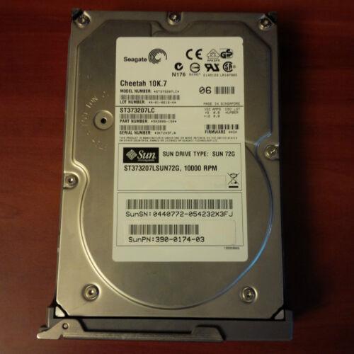 Sun 390-0174-03 540-5456-01 10K 72GB SCSI Hard Drive w// Caddy Seagate ST373207LC