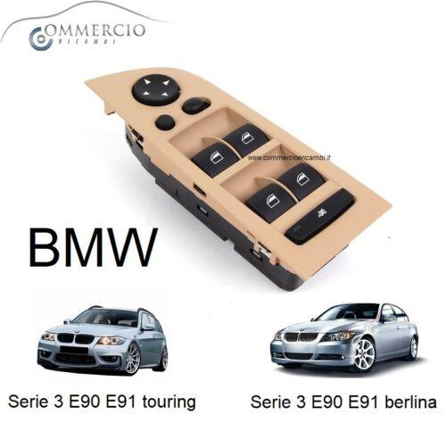 Pulsantiera Alzacristalli BMW Serie 3 E90 E91 Berlina touring dal 2004 /> beige