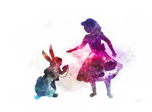 ART-PRINT-Alice-in-Wonderland-illustration-Alice-and-White-Rabbit-Wall-Art