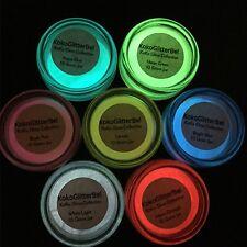 Glow in the Dark Pigment Powder | Acrylic Gel Nail Art | Glow Nails Custom Mix