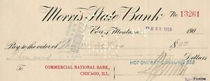 1910  MORRIS STATE BANK, PONY, MONTANA