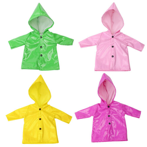 4Pcs Candy Color Raincoat Clothes for 18 Inch AG American Doll Doll Outfits