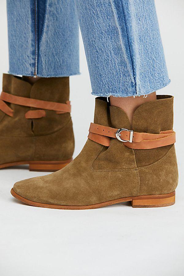 FREE PEOPLE  Jeffrey Jeffrey Jeffrey Campbell Lincoln Ankle Boots Khaki   Tan Combo 8M 480706