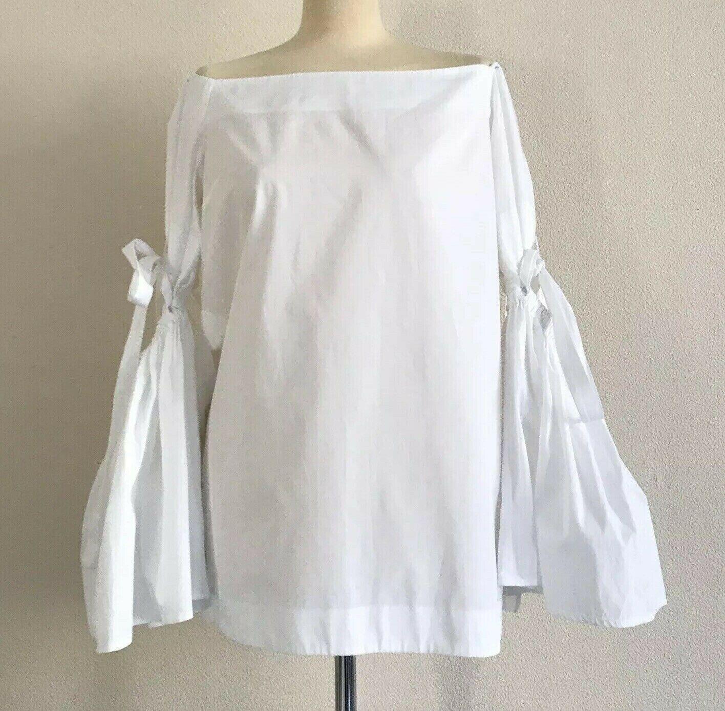 ELLERY blancoo  Cirilo   del hombro Bow de súperdry con mangas Acampanada-Reino Unido 14 en muy buena condición  ventas en linea