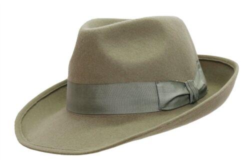 Australian style wollfilzhut Clyde avec incurvés Rebord et satin ruban