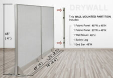 Gof Wall Mounted Office Partition Divider 78w X 48h 78w X 60h 78w X 72h