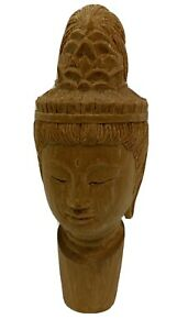 Hand-Carved-Wooden-Buddhist-Wine-Stopper-Signed