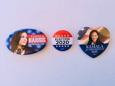 HARRIS-SE-002-X4 Kamala Harris For President 2020 Set of 4 Campaign Buttons