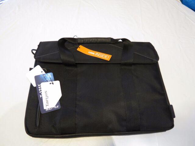 Targus laptop computer tote bag carry T-1211 book messenger TST595-50 travel BLK