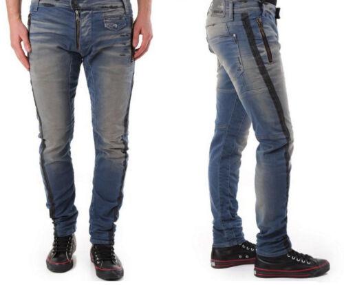 ABSOLUT JOY Stylische Washed Slim Stretch Herren Jeans M-L