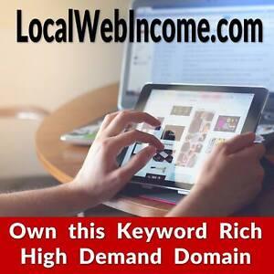 ✅ LocalWebIncome .com - Premium Keyword Domain - Web Development Business