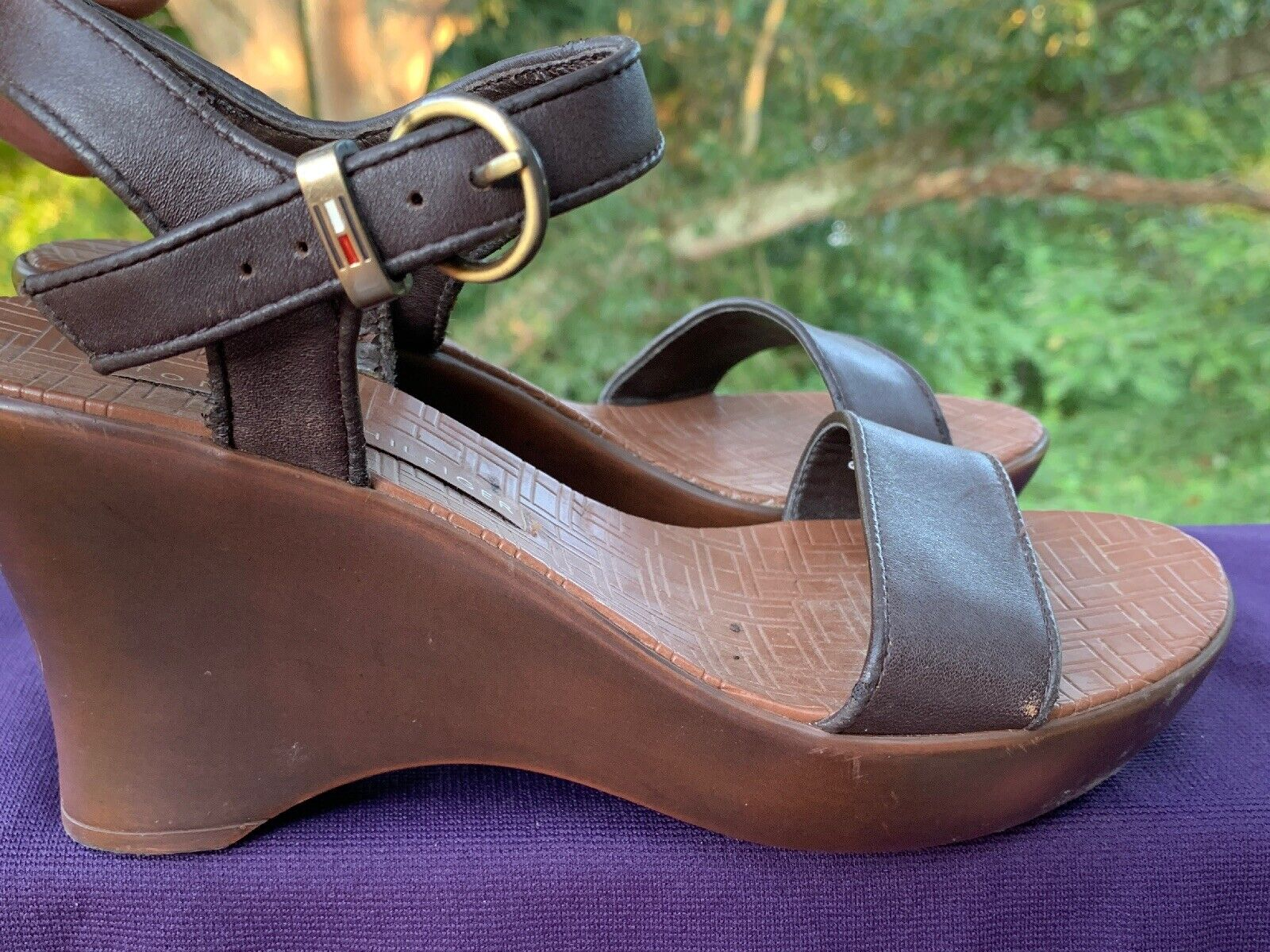TOMMY HILFIGER Leather Slingbacks Clogs Mules Wed… - image 3