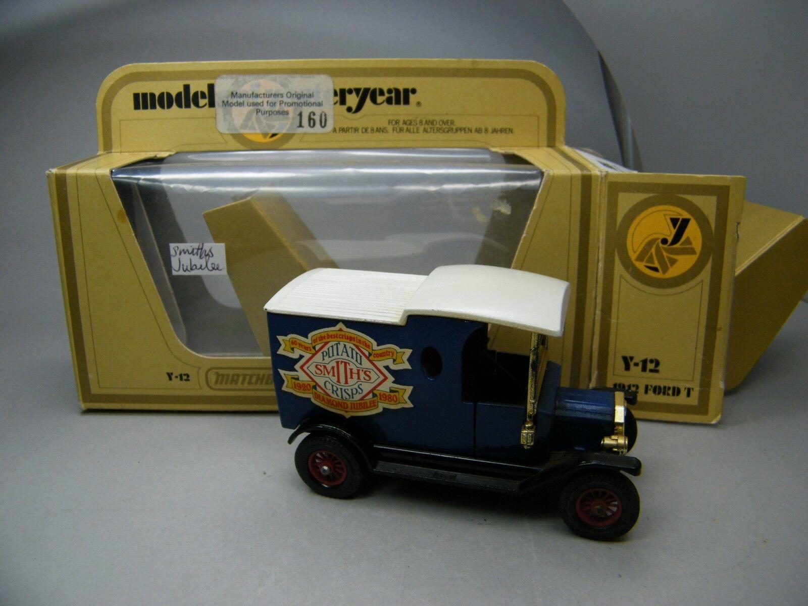 Matchbox MoY C3 Ford T Smith Crips - sehr seltenes Werbemodell UK OVP Bilder K02