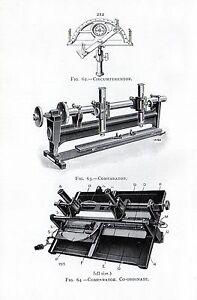 1921 PRINT ~ CIRCUMFERENTOR COMPARATOR CO-ORDINATE REVERSE COLORIMETER NUTTING'S