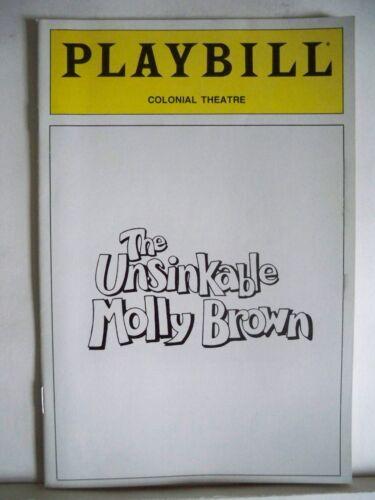 RON RAINES Boston 1990 THE UNSINKABLE MOLLY BROWN Playbill DEBBIE REYNOLDS