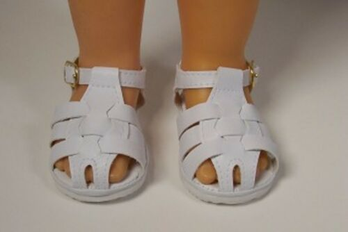 WHITE Fisherman Sandals Doll Shoes For Chatty Cathy (Debs)