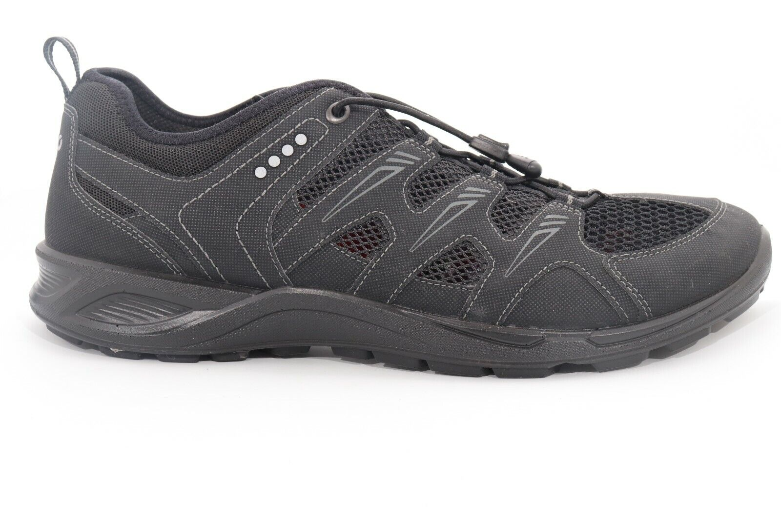 Ecco Fashion Sneaker Black Breathable Men's Size 43