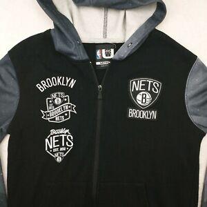 NBA Brooklyn Nets Men's Medium Full Zip Hoodie Track Jacket