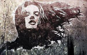 Framed-Canvas-stencil-girl-face-street-art-graffiti-urban-painting-licensed