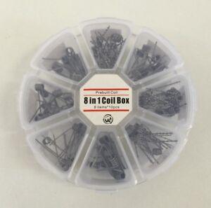 8in1-Vorgefertigte-Coils-Coil-Box-Alien-Tiger-Quad-Clapton-Twisted-Hive-Mix