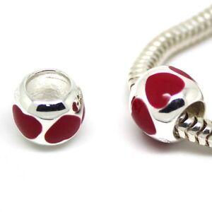 coeurs-rouges-espacement-Amour-St-valentin-massif-en-argent-sterling-925