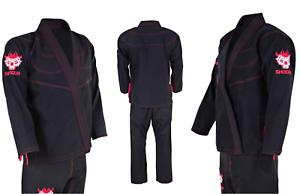 New-Shogun-Jujitsu-Edition-Pro-Kimono-Samuri-Rib-Stop-Gi-Black-Uniforms-BJJ