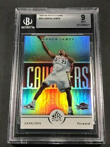 LEBRON-JAMES-2005-UPPER-DECK-REFLECTIONS-16-HOLO-REFRACTOR-CARD-BGS-9-NBA