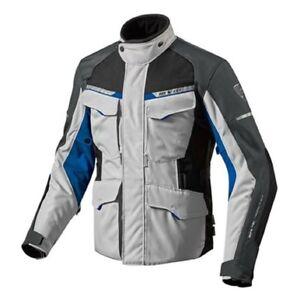 Chaqueta-de-motociclista-touring-Revit-Outback-2-gris-plata-azul-desmontable